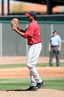 Fabio Martinez #45 of the Los Angeles Angels plays in a minor league spring training game against the Colorado Rockies at the Rockies minor league complex on March 28, 2011  in Scottsdale, Arizona. .Photo by:  Bill Mitchell/Four Seam Images.