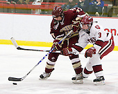 Danielle Welch (BC - 17), Liza Ryabkina (Harvard - 3) - The Harvard University Crimson defeated the Boston College Eagles 5-0 in their Beanpot semi-final game on Tuesday, February 2, 2010 at the Bright Hockey Center in Cambridge, Massachusetts.