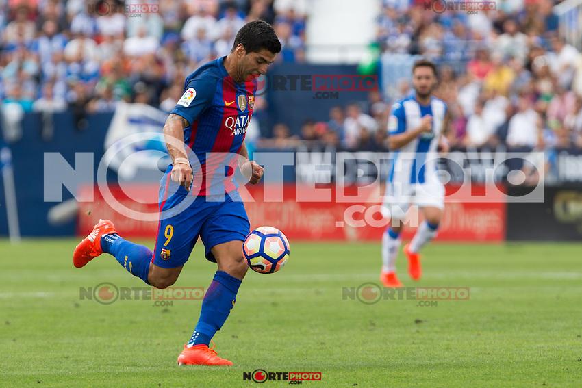 FC Barcelona's Luis Suarez during the match of La Liga between Club Deportivo Leganes and Futbol Club Barcelona at Butarque Estadium in Leganes. September 17, 2016. (ALTERPHOTOS/Rodrigo Jimenez) /NORTEPHOTO