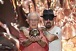 US Screenwriter Bruce Joel Rubin (l) and British musician Dave A. Stewart present 'Ghost. El Musical'. October 01,2019. (ALTERPHOTOS/Acero)