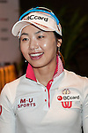 Hye-Youn Kim of Korea attends the press conference ahead of the Hyundai China Ladies Open 2014 on December 10 2014 at Mission Hills Shenzhen, in Shenzhen, China. Photo by Xaume Olleros / Power Sport Images