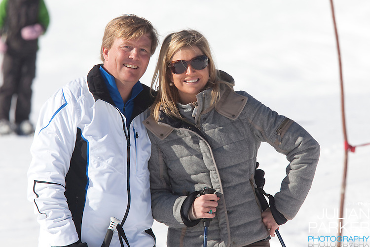 Crown Prince Willem Alexander, and Crown Princess Maxima of Holland attend a Photocall with Members of The Dutch Royal Family during their Winter Ski Holiday in Lech Austria