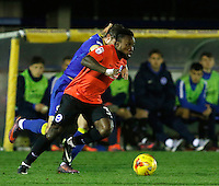 Brighton's Kazenga Lua Lua in action during the The Checkatrade Trophy match between AFC Wimbledon and Brighton & Hove Albion Under 21s at the Cherry Red Records Stadium, Kingston, England on 6 December 2016. Photo by Carlton Myrie / PRiME Media Images