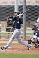 Kalian Sams #30 of the Seattle Mariners plays in a minor league spring training game against the San Diego Padres at the Padres minor league complex on March 19, 2011  in Peoria, Arizona. .Photo by:  Bill Mitchell/Four Seam Images.