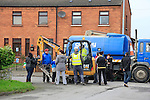 residents protest to the installation of water meters by contractors for Irish Water<br /> <br /> Picture: Fran Caffrey www.newsfile.ie