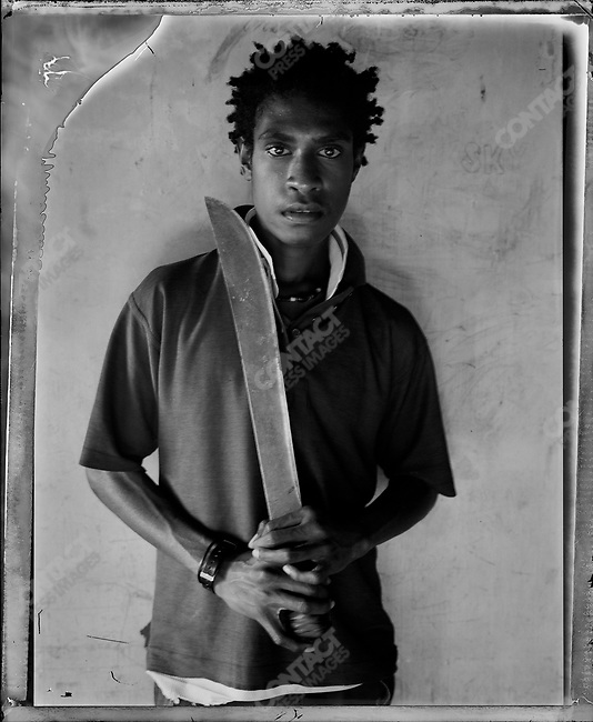 """Koisen,"" Raskols, gangs of Port Moresby, Papua New Guinea, January 2004"