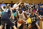 20 December 2011: Duke's Chelsea Gray (12) is defended by UNCW's Jessica Freeman (24) and Chelsea McGowan (42). The Duke University Blue Devils defeated the University of North Carolina Wilmington Seahawks 107-45 at Cameron Indoor Stadium in Durham, North Carolina in an NCAA Division I Women's basketball game.