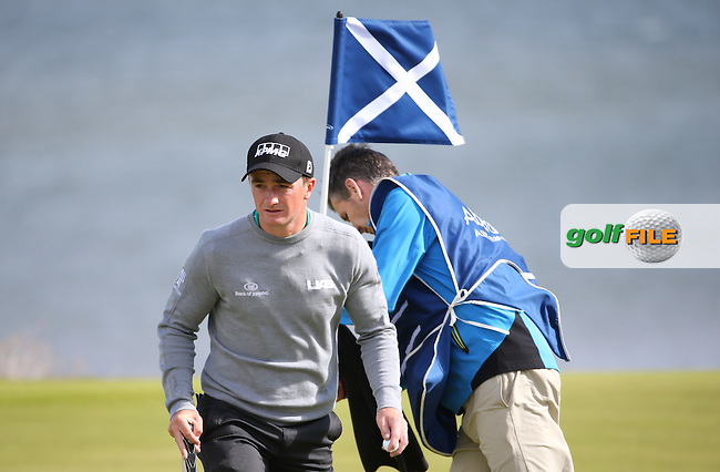 Paul Dunne (IRL) during the First Round of the 2016 Aberdeen Asset Management Scottish Open, played at Castle Stuart Golf Club, Inverness, Scotland. 07/07/2016. Picture: David Lloyd | Golffile.<br /> <br /> All photos usage must carry mandatory copyright credit (&copy; Golffile | David Lloyd)
