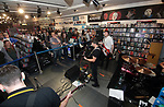 The Rosadocs launch their new single Concrete with an intimate gig at HMV Meadowhall, Sheffield, United Kingdom, 3rd October 2019. Photo by Glenn Ashley.
