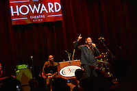 February 26, 2013  (Washington, DC)  Rapper/Hip-hop entertainer Doug E Fresh pays tribute to Stevie Wonder at the historic Howard Theatre in D.C. (Photo by Don Baxter/Media Images International)