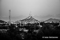 Cerro de la campana, durante el tercer juego de la Serie entre Tomateros de Culiacán vs Naranjeros de Hermosillo en el Estadio Sonora. Segunda vuelta de la Liga Mexicana del Pacifico (LMP)<br /> <br /> 26Dici2015.<br /> CreditoFoto:LuisGutierrez
