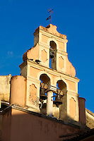 Church Bell Tower of a Greek Orthodox Church, Corfu Old Town, Greek Ionian Islands