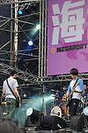 Kaohsiung, MegaPort Music Festival -- Taiwanese band SUGAR PLUM FERRY on stage.