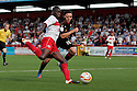 Lucas Akins of Stevenage shoots. Stevenage v Crewe Alexandra - npower League 1 -  Lamex Stadium, Stevenage - 15th September, 2012. © Kevin Coleman 2012.
