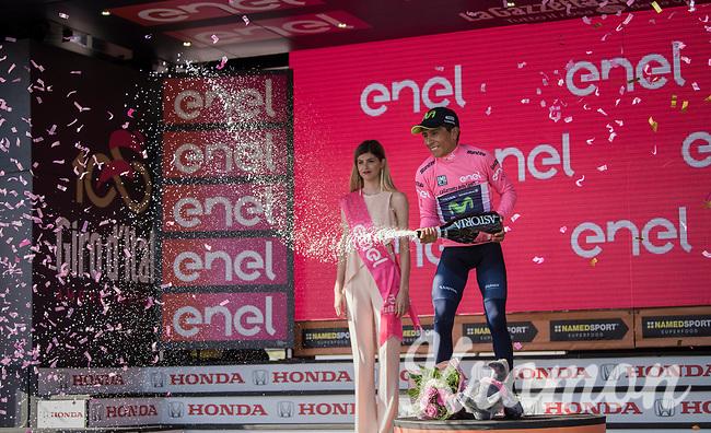Nairo Quintana (COL/Movistar) is the new Maglia Rosa after stage 19: San Candido/Innichen &rsaquo; Piancavallo (191km)<br /> <br /> 100th Giro d'Italia 2017