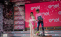 Nairo Quintana (COL/Movistar) is the new Maglia Rosa after stage 19: San Candido/Innichen › Piancavallo (191km)<br /> <br /> 100th Giro d'Italia 2017