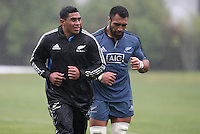All Blacks Training at University Oval, Dunedin 2014
