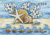 Interlitho, Theresa, MODERN, paintings, star-fish, snail-shells, KL4368,#n# moderno, arte, illustrations, pinturas ,everyday