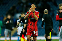 8th February 2020; Ewood Park, Blackburn, Lancashire, England; English Football League Championship Football, Bobby Reid of Fulham applauds the travelling Fulham fans after his side earned a 1-0 win
