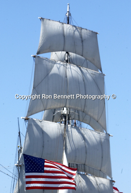 sails Star of India 1863 iron hulled beauty oldest active ship in world San Diego Bay California, tall ship is large traditionally rigged sailing vessel, topsail, schooners, brigantines, brigs, barques, full rigged ship named after the Greek goddess of music, West Coast of US, Golden State, 31st State, Fine Art Photography by Ron Bennett, Fine Art, Fine Art photography, Art Photography, Copyright RonBennettPhotography.com ©