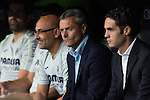 Villarreal's coach Fran Escriba during the match of La Liga between Real Madrid  and Villarreal Club de Futbol at Santiago Bernabeu Estadium in Madrid. September 21, 2016. (ALTERPHOTOS/Rodrigo Jimenez)