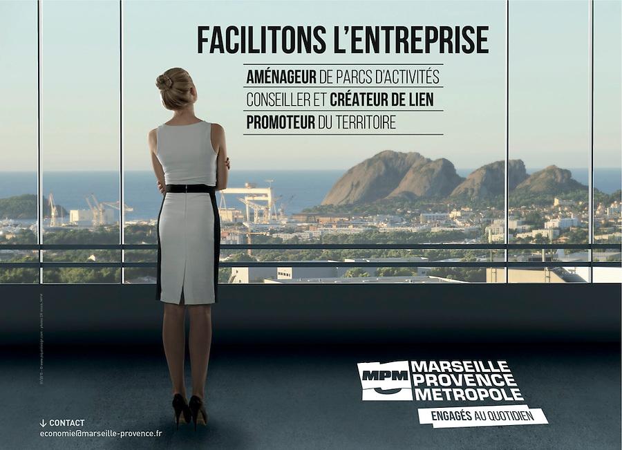Publicité à l'intention des entreprises - Format Muppy - Marseille Provence Métropole