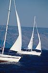 Croatia, Sailboats, Hvar Island, Dalmatian Islands, Southern Dalmatia, Adriatic Sea, Mediterranean Sea,.