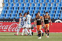 12th July 2020; Estadio Municipal de Butarque, Madrid, Spain; La Liga Football, Club Deportivo Leganes versus Valencia; Ruben Perez (CD Leganes)  celebrates his goal from the penalty spot for 1-0 in the 18th minute