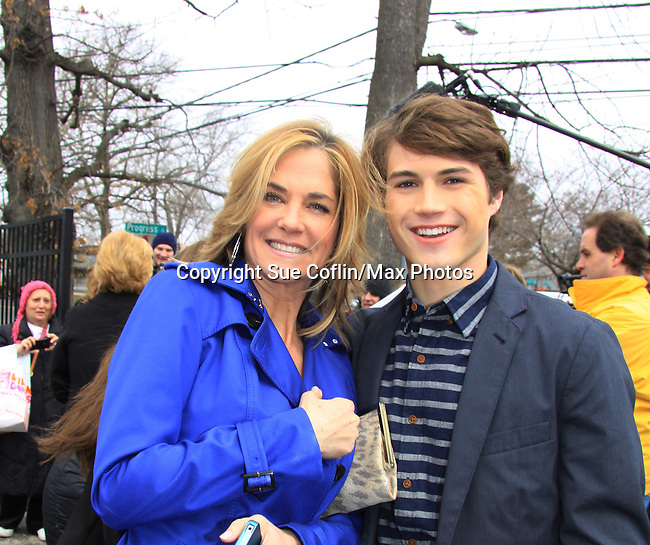 Kassie DePaiva & Andrew Trischitta - Welcome Back Rally to mark the returns of former ABC soap opera One Life To Live and All My Children. Due to overwhelming fan demand, both long-running dramas are being re-launched by producer Prospect Online Network (TOLN). The rally is in front of the Connecticut Film Center in Stamford, CT where the shows are now being produced on March 18, 2013 to coincide with OLTL's first tape date. (Photo by Sue Coflin/Max Photos)