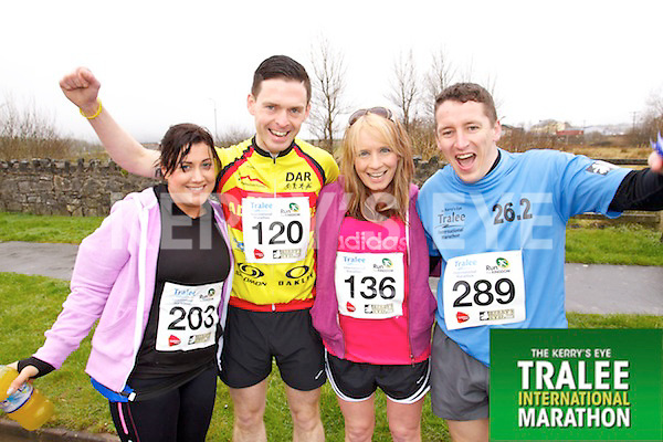 Lorraine Lynch 203, Tom Foley 120, Michelle Greaney 136, Robert O'Sullivan 289, who took part in the Kerry's Eye Tralee International Marathon on Sunday 16th March 2014.