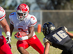 Palos Verdes, CA 10/24/14 - Deaaron Williams (Redondo Union #3)in action during the Redondo Union - Palos Verdes Peninsula CIF Varsity football game at Peninsula High School.
