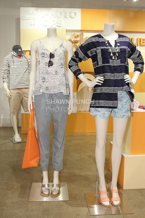 Items from the Palm Beach collection, during the Old Navy Summer 2015 collection preview in New York City.