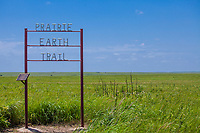 Prairie Earth Trail sign in Nature Conservancy Joseph H. Williams Tallgrass Prairie Preserve, Oklahoma