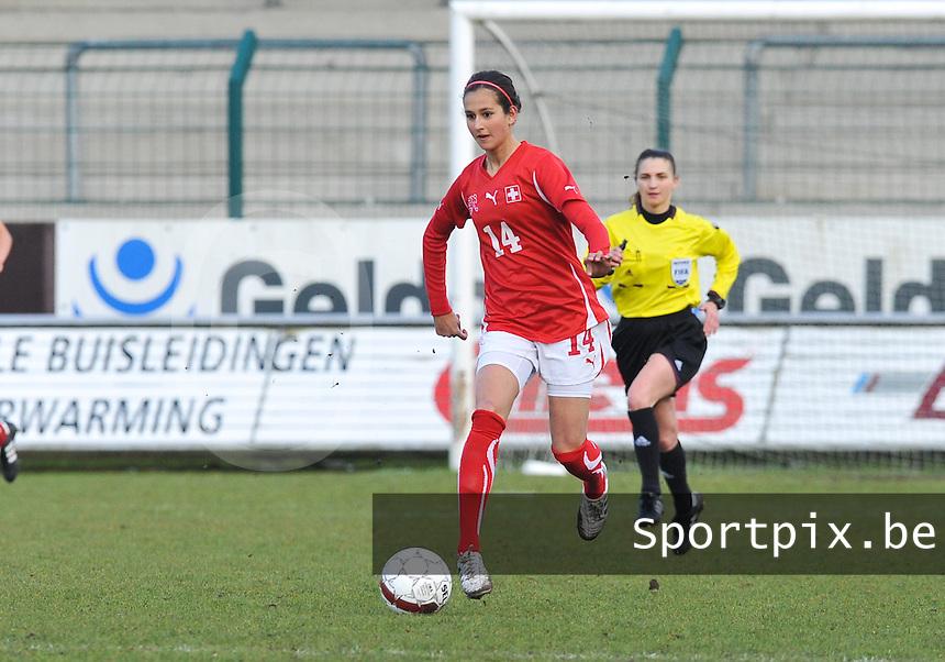 UEFA Women's Under 17 Championship - Second Qualifying round - group 1 : England - Switzerland : .Aline Stockli.foto DAVID CATRY / Vrouwenteam.be