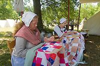 Camp follower reenactors, Revolutionary War, Monmouth Battlefield State Park, New Jersey