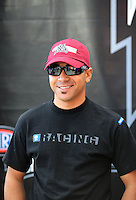 Nov. 2, 2008; Las Vegas, NV, USA: NHRA top fuel dragster driver J.R. Todd during the Las Vegas Nationals at The Strip in Las Vegas. Mandatory Credit: Mark J. Rebilas-
