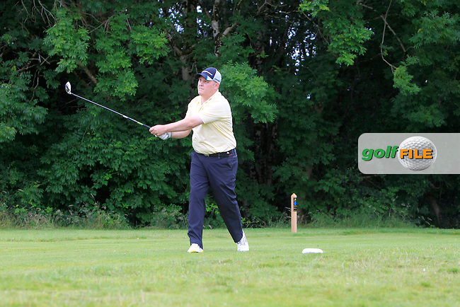 James Meehan (Newcastle West) on the 10th tee during the Final round of the Munster section of the AIG Pierce Purcell Shield at East Clare Golf Club on Sunday 19th July 2015.<br /> Picture:  Golffile | Thos Caffrey
