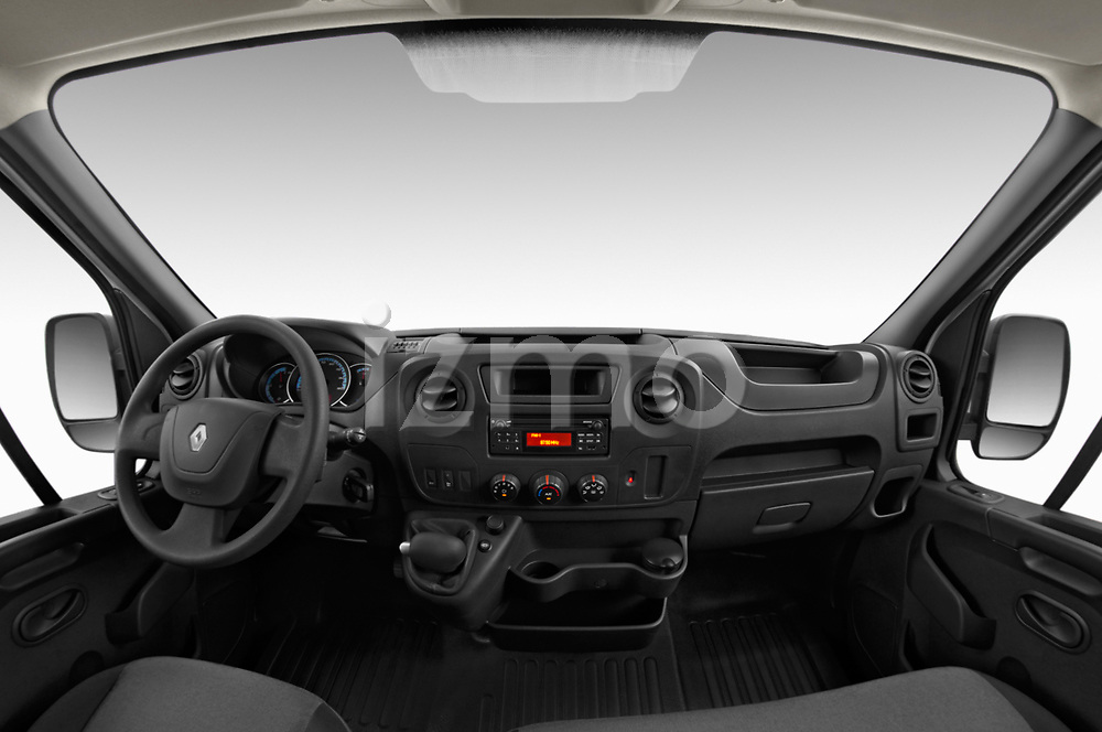 Stock photo of straight dashboard view of a 2019 Renault Master-Z.E. Base 4 Door Cargo Van