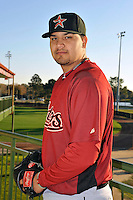 Feb 25, 2010; Kissimmee, FL, USA; The Houston Astros pitcher Matt Naevarez (91) during photoday at Osceola County Stadium. Mandatory Credit: Tomasso De Rosa / Four Seam Images