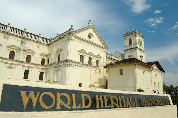 World Heritage Monument Se Cathedral. India, Goa, Old Goa.