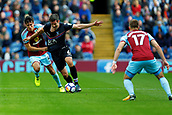 10th September 2017, Turf Moor, Burnley, England; EPL Premier League football, Burnley versus Crystal Palace; Jack Cork of Burnley pulls the shirt of Scott Dann of Crystal Palace