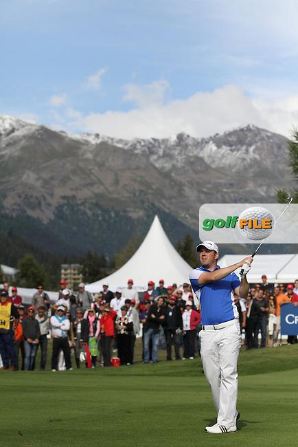 Richie Ramsay (SCO) wins 2012 Omega European Masters, Richie Ramsay in action on Day 4 of the Omega European Masters 2012, Golf Club Crans-Sur-Sierre, Crans Montana, Switzerland, 01/09/12...(Photo Jenny Matthews/www.golffile.ie)