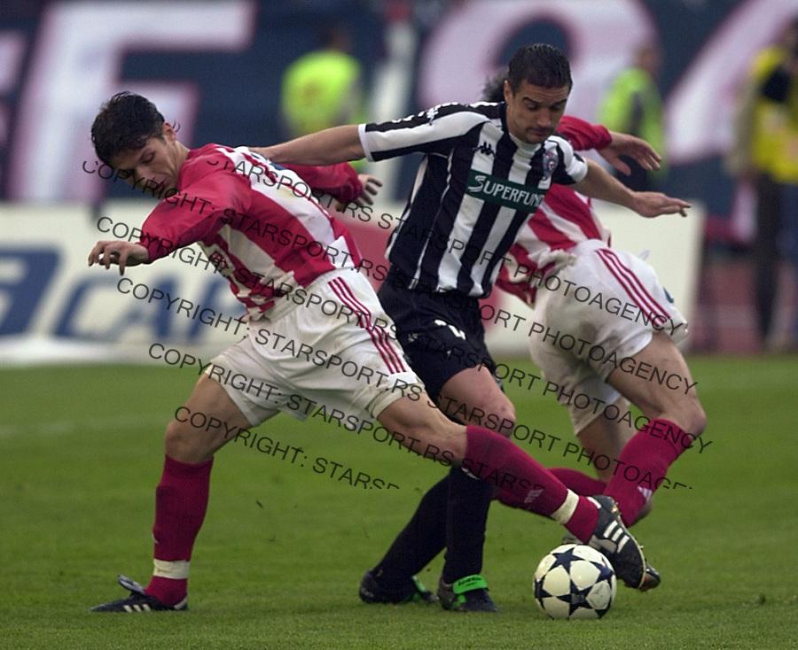 SPORT FUDBAL FSSCG KUP SRBIJE I CRNE GORE CRVENA ZVEZDA PARTIZAN Pantelic Mirkovic&amp;#xA;21.04.2004. foto: Pedja Milosavljevic<br />