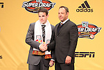 13 January 2011: New York Red Bulls selected John Rooney (ENG) with the #25 overall pick. With MLS VP Todd Durbin (right). The 2011 MLS SuperDraft was held in the Ballroom at Baltimore Convention Center in Baltimore, MD during the NSCAA Annual Convention.