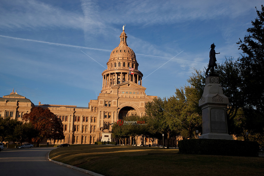 The Texas Firemen's Monument is located on the State Capitol Grounds in Austin. It was dedicated on July 7, 1896.