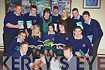 BUSINESS: Students from Causeway Comprehensive Secondry School who study Businness in the Community in conjuction with ITT Tralee on Sunday. Sam Fitzell and kevin O'Grady. Seated l-r: Pa O'Regan, Faye Oliver, Shauna O'Connell, Katie O'Halloran and Chris Barrett. Back l-r: Jack Duggan, Aidan Maunsell, Margaret O'Mahony(teacher), Cathal Mccarthy, Anne Marie Flynn (ITT Tralee), William Casey and Luke Fitzell..