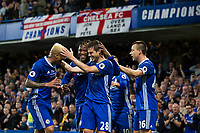 Chelsea's Cesar Azpilicueta celebrates with team mates after scoring his sides second goal      <br /> <br /> <br /> Photographer Craig Mercer/CameraSport<br /> <br /> The Premier League - Chelsea v Watford - Monday 15th May 2017 - Stamford Bridge - London<br /> <br /> World Copyright &copy; 2017 CameraSport. All rights reserved. 43 Linden Ave. Countesthorpe. Leicester. England. LE8 5PG - Tel: +44 (0) 116 277 4147 - admin@camerasport.com - www.camerasport.com