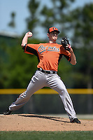 Baltimore Orioles pitcher Sebastian Vader (40) during a minor league spring training game against the Minnesota Twins on March 28, 2015 at the Buck O'Neil Complex in Sarasota, Florida.  (Mike Janes/Four Seam Images)