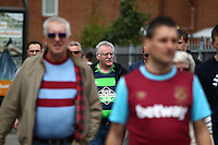 Swansea fans  before  the Barclays Premier League match between West Ham United and Swansea City  played at Boleyn Ground , London on 7th May 2016