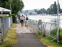 Henley Royal Regatta, Henley on Thames, Oxfordshire, 28 June - 2 July 2017.  Wednesday  08:44:14   28/06/2017  [Mandatory Credit/Intersport Images]<br /> <br /> Rowing, Henley Reach, Henley Royal Regatta.<br /> <br /> The controversial Barriers erected by Upper Thames Rowing Club on the Towpath outside Remenham Club.